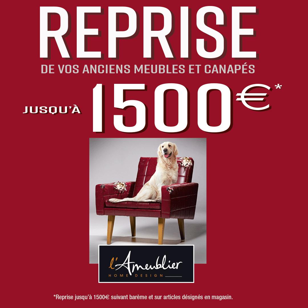Reprise jusqu'à 1500€